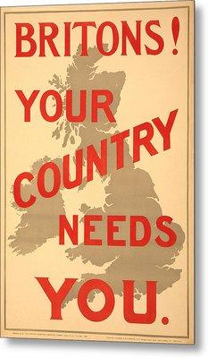 Britons Needed Metal Print by Richard Reeve