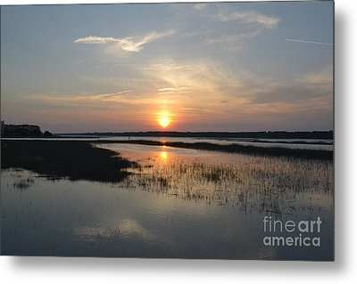 Metal Print featuring the photograph Broad Creek Sunset by Carol  Bradley