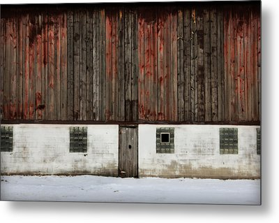 Metal Print featuring the photograph Broad Side Of A Barn by Julie Hamilton