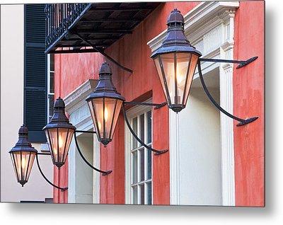 Broad Street Lantern - Charleston Sc  Metal Print