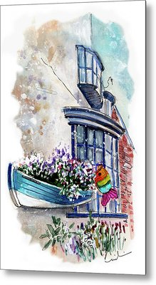 Broadies By The Sea In Staithes Metal Print