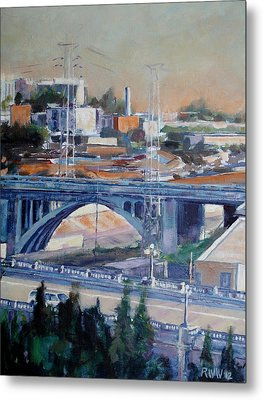 Broadway Bridge Metal Print by Richard  Willson