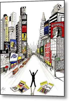 Metal Print featuring the drawing Broadway Dreamin' by Marilyn Smith