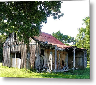 Brokedown Barn Metal Print