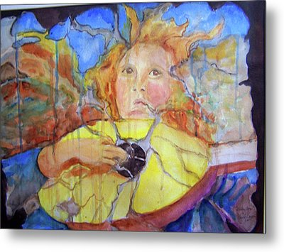 Metal Print featuring the painting Broken Angel by P Maure Bausch