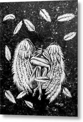 Metal Print featuring the painting Broken Angel by Teresa Wing