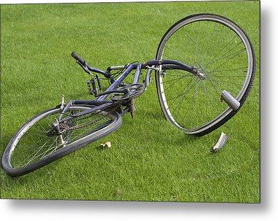 Broken Bicycle Metal Print