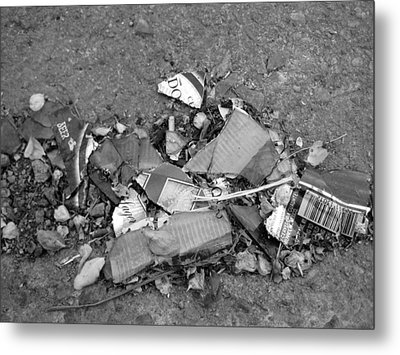 Broken Bottle Metal Print by Luke Cain