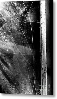 Broken Glass Window Metal Print by Jorgo Photography - Wall Art Gallery
