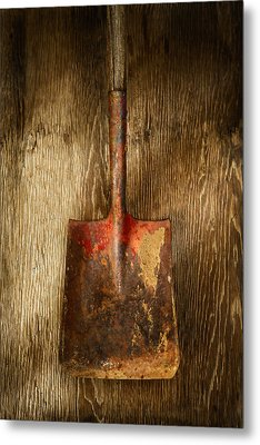 Tools On Wood 2 Metal Print by YoPedro
