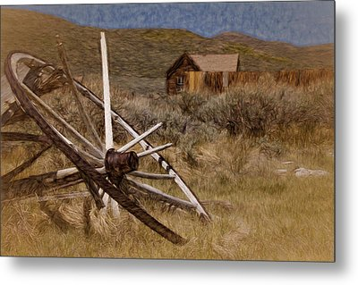 Metal Print featuring the photograph Broken Spokes by Lana Trussell