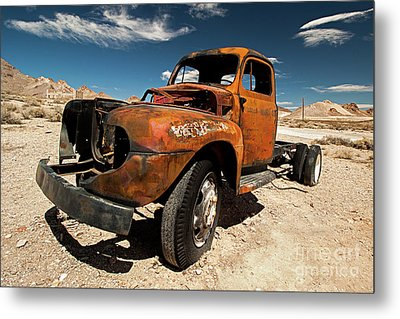 Broken Truck Metal Print by Christian Hallweger