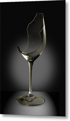 Broken Wine Glass Metal Print by Yuri Lev