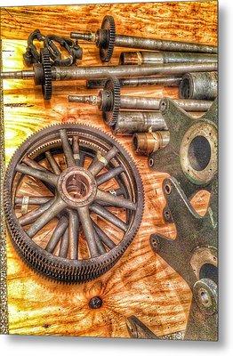 Bromo Seltzer Tower's 1911 Seth Thomas Clock Mechanism Abstract #2 Metal Print