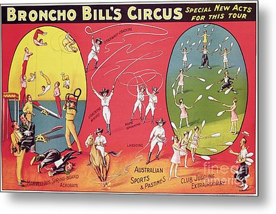 Bronco Bills Circus Metal Print by English School