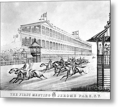Bronx: Horse Race, 1866 Metal Print by Granger