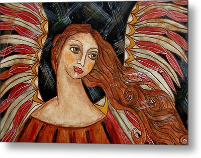 Bronze Angel Metal Print by Rain Ririn