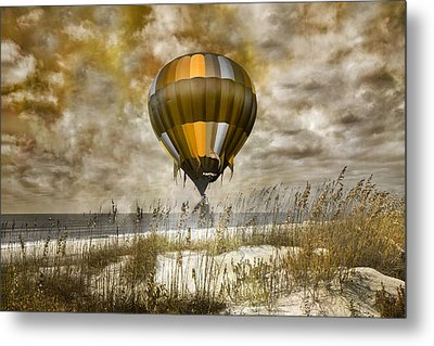 Bronze Beach Ballooning Metal Print