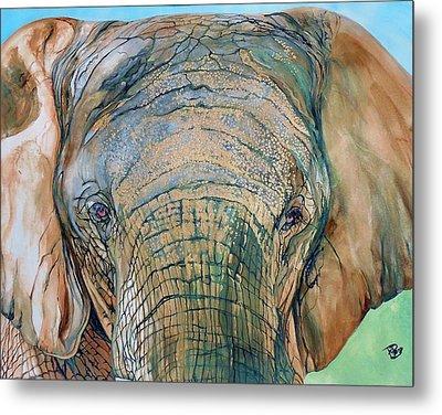 Bronze Elephant Metal Print