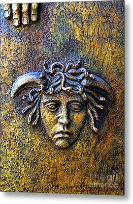 Bronze Medusa Metal Print by Mexicolors Art Photography