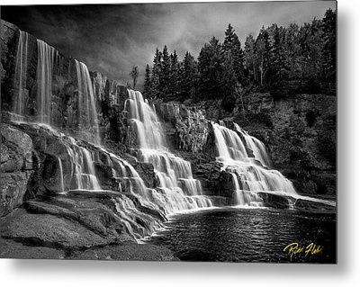 Metal Print featuring the photograph Brooding Gooseberry Falls by Rikk Flohr