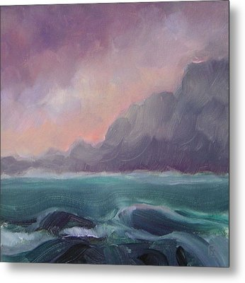 Brooding Tide Metal Print by Mary Brooking
