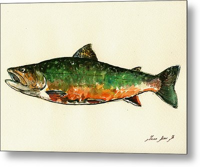 Brook Trout Metal Print by Juan  Bosco