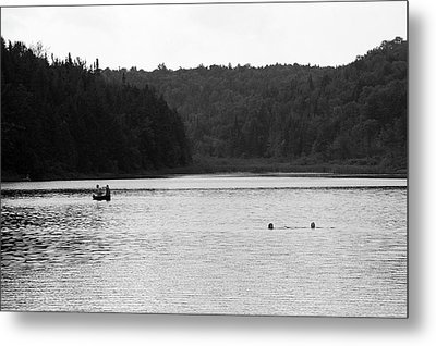 Metal Print featuring the photograph Brookfield, Vt - Swimming Hole 2006 Bw by Frank Romeo