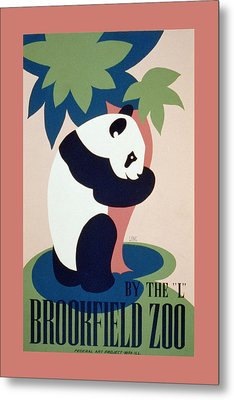 Brookfield Zoo Panda Metal Print by Unknown