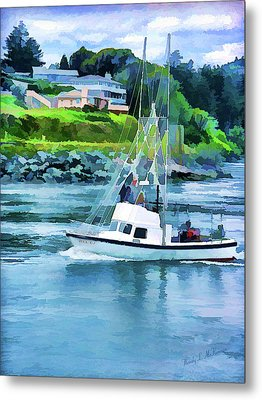 Brookings Boat Oil Painting Metal Print by Wendy McKennon