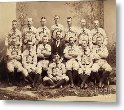 Brooklyn Bridegrooms Baseball Team Metal Print by American School