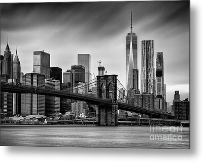Brooklyn Bridge Metal Print by John Farnan