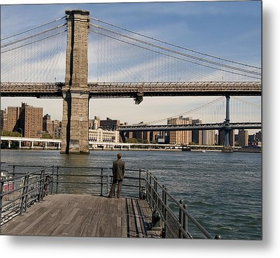 Brooklyn Bridge  Metal Print by Andrew Kazmierski