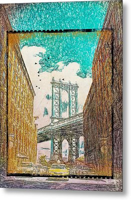 Manhattan Bridge From The East Side Metal Print