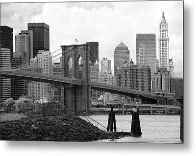 Brooklyn Bridge I Metal Print by Chuck Kuhn