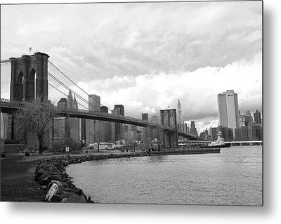 Brooklyn Bridge II Metal Print by Chuck Kuhn