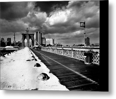 Brooklyn Bridge Metal Print by Luca Baldassari