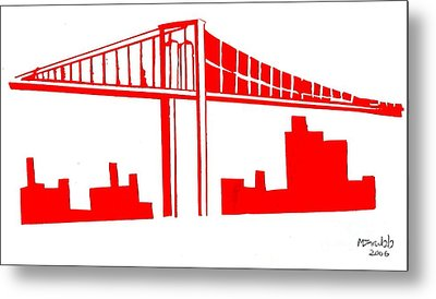 Brooklyn Bridge Metal Print by Michael Grubb