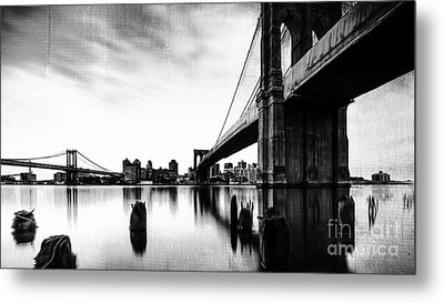 Brooklyn Bridge Ny Metal Print