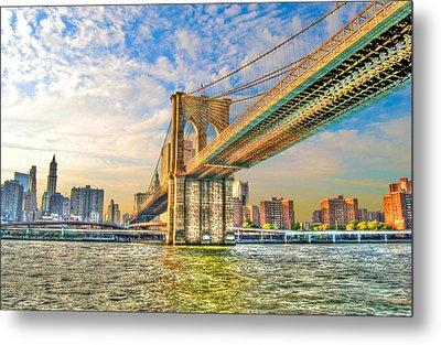 Brooklyn Bridge Metal Print by Randy Aveille