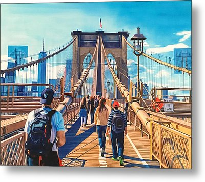 Brooklyn Bridge Metal Print by Warren Chiu