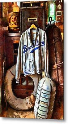 Metal Print featuring the photograph Brooklyn Dodgers Baseball  by Thom Zehrfeld