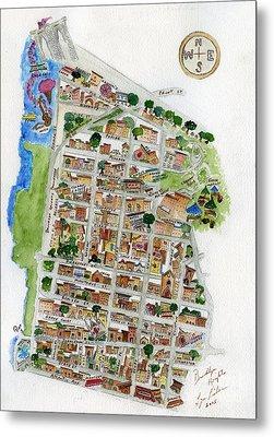 Brooklyn Heights Map Metal Print