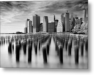 Brooklyn Park Pilings Metal Print by Jessica Jenney