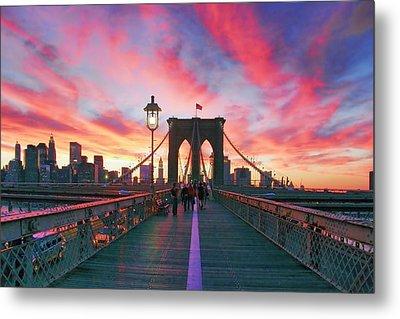 Brooklyn Sunset Metal Print by Rick Berk