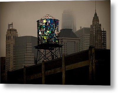Brooklyn Water Tower Metal Print