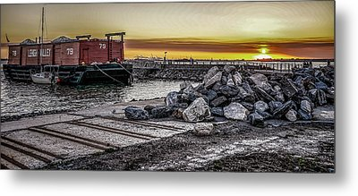 Brooklyn Waterfront Sunset Metal Print