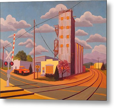 Broomfield Grain Elevator Metal Print