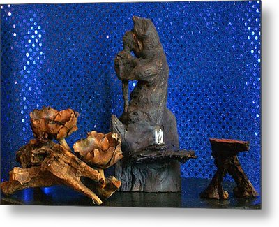 Metal Print featuring the photograph Brother Bear by Carolyn Cable