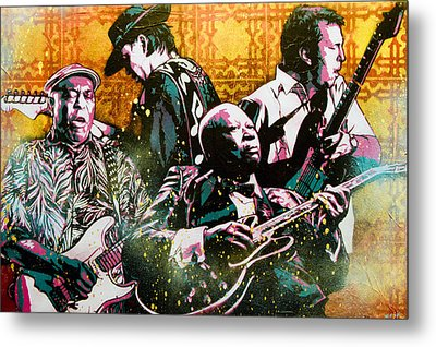 Brothers In Blues Metal Print by Bobby Zeik